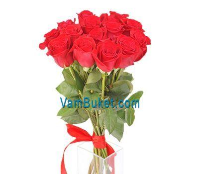"""""""Букет из 15 красных импортных роз"""" в интернет-магазине цветов vambuket.com"""