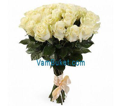 """""""Букет из 19 белых импортных роз"""" в интернет-магазине цветов vambuket.com"""