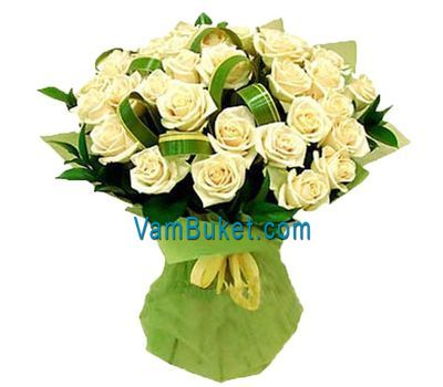 """Bouquet of 45 white roses"" in the online flower shop vambuket.com"