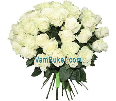 """Bouquet of 55 white roses"" in the online flower shop vambuket.com"