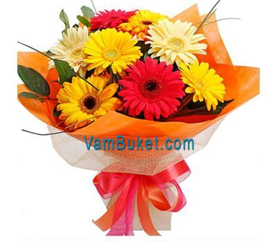 """Bouquet of 11 gerberas"" in the online flower shop vambuket.com"