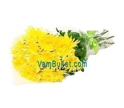"""""""Букет из 11 желтых хризантем"""" в интернет-магазине цветов vambuket.com"""