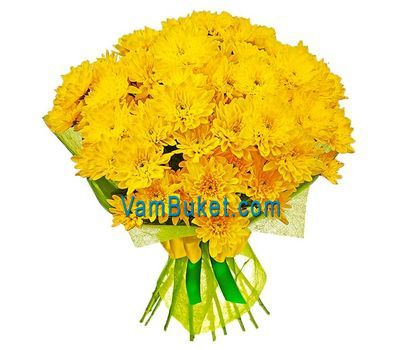 """Bouquet of 11 yellow chrysanthemums"" in the online flower shop vambuket.com"