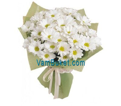 """Bouquet of 7 white chrysanthemums"" in the online flower shop vambuket.com"