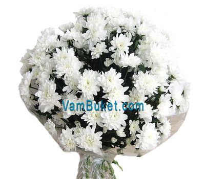 """Bouquet of 21 chrysanthemums"" in the online flower shop vambuket.com"