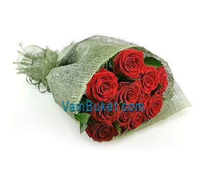 """Букет із 11 червоних троянд"" в интернет-магазине цветов vambuket.com"