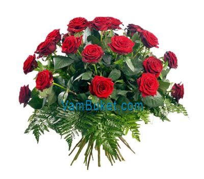 """Bouquet of 29 red roses flowers"" in the online flower shop vambuket.com"