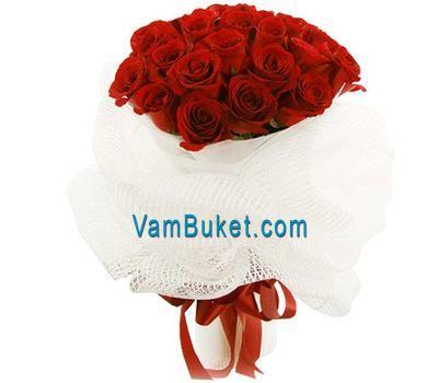 """""""Букет цветов из 25 красных роз"""" в интернет-магазине цветов vambuket.com"""