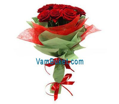 """Bouquet of 13 red roses"" in the online flower shop vambuket.com"