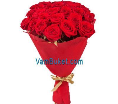 """Bouquet of flowers of 23 red roses"" in the online flower shop vambuket.com"