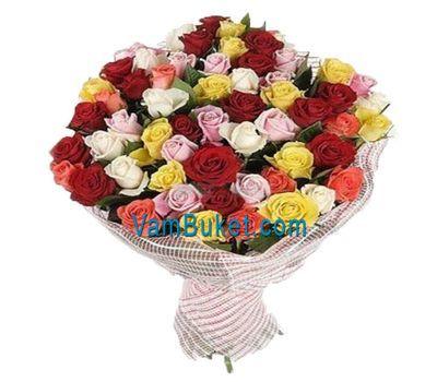 """""""Букет из 55 разноцветных роз"""" в интернет-магазине цветов vambuket.com"""