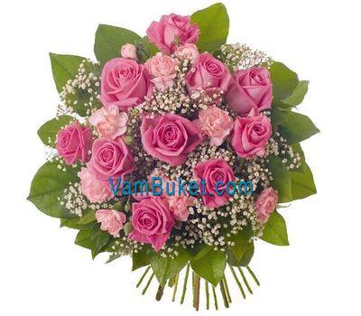 """""""Букет из 9 роз и 10 гвоздик"""" в интернет-магазине цветов vambuket.com"""