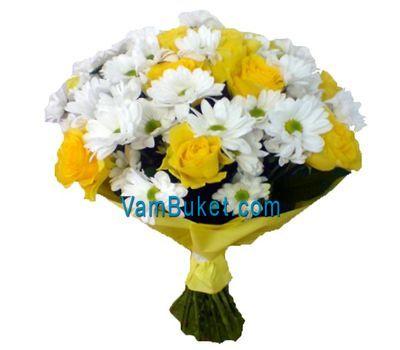 """""""Букет из 11 роз и 6 хризантем"""" в интернет-магазине цветов vambuket.com"""