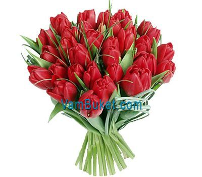 """""""Букет цветов из 51 красного тюльпана"""" в интернет-магазине цветов vambuket.com"""