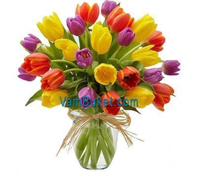 """""""Букет из 25 тюльпанов"""" в интернет-магазине цветов vambuket.com"""