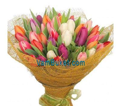 """""""Букет из 101 тюльпана"""" в интернет-магазине цветов vambuket.com"""