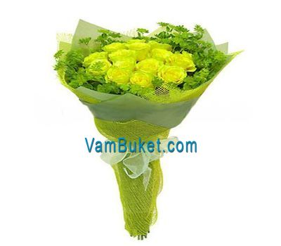 """""""Bouquet of 17 yellow roses"""" in the online flower shop vambuket.com"""