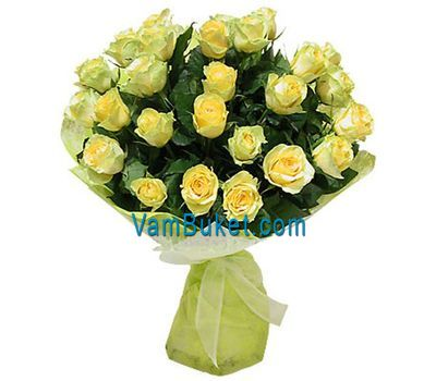 """Bouquet of 35 yellow roses"" in the online flower shop vambuket.com"