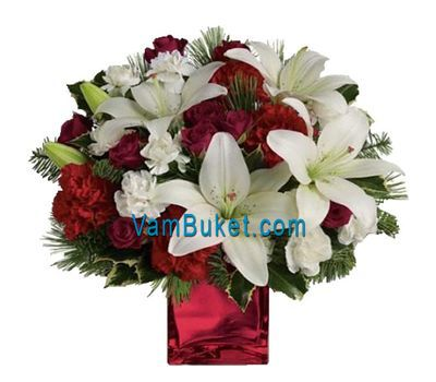 """""""Bouquet for the New Year New Year"""" in the online flower shop vambuket.com"""