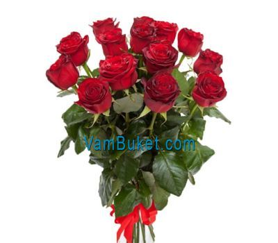 """Bouquet of 15 red roses"" in the online flower shop vambuket.com"