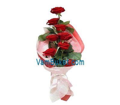 """""""Букет из 7 красных роз"""" в интернет-магазине цветов vambuket.com"""