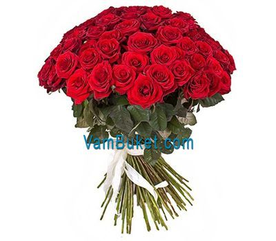 """Bouquet of 45 red roses"" in the online flower shop vambuket.com"