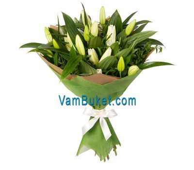 """Bouquet of 7 lilies"" in the online flower shop vambuket.com"
