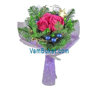 """""""Bouquet for the New Year from roses"""" in the online flower shop vambuket.com"""