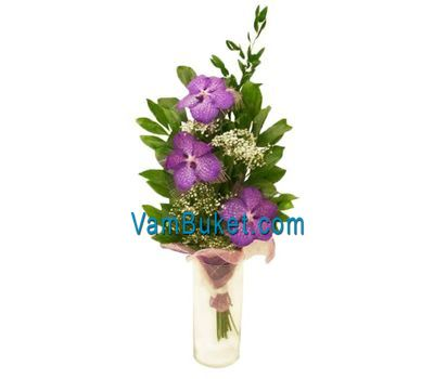 """Bouquet of flowers from 3 orchid flowers"" in the online flower shop vambuket.com"