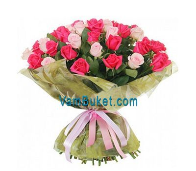 """Bouquet of 51 multi-colored roses"" in the online flower shop vambuket.com"