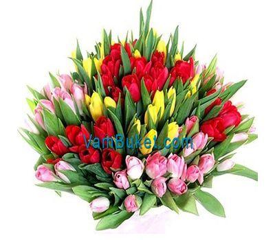 """""""Букет из 101 разноцветного тюльпана"""" в интернет-магазине цветов vambuket.com"""