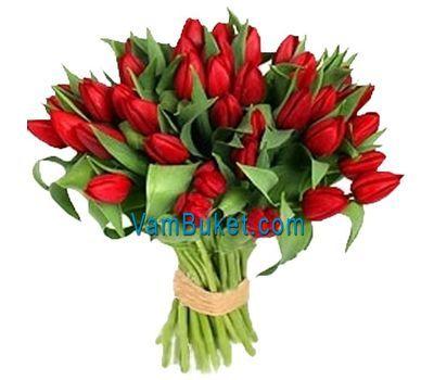 """""""Букет цветов из 35 красных тюльпанов"""" в интернет-магазине цветов vambuket.com"""