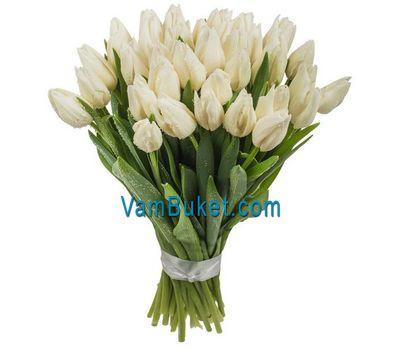 """""""Букет цветов из 35 белых тюльпанов"""" в интернет-магазине цветов vambuket.com"""