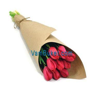 """""""Букет из 9 розовых тюльпанов"""" в интернет-магазине цветов vambuket.com"""