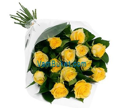 """Bouquet of 11 yellow roses"" in the online flower shop vambuket.com"