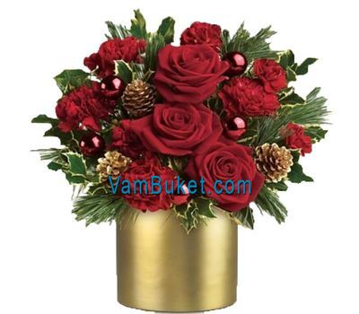 """Композиция на Рождество"" в интернет-магазине цветов vambuket.com"