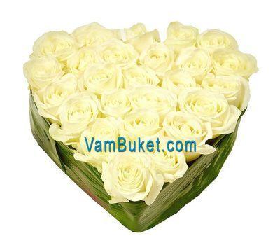"""""""27 белых роз"""" в интернет-магазине цветов vambuket.com"""