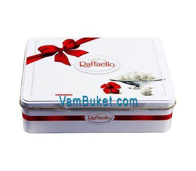 """Raffaello candies in a metal box"" in the online flower shop vambuket.com"