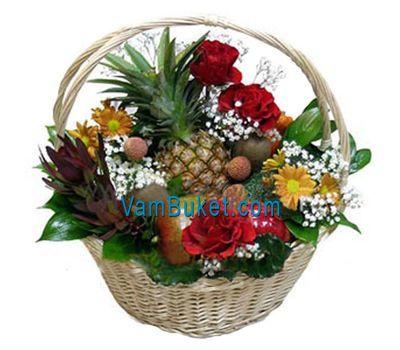 """""""Корзина с фруктами и цветами"""" в интернет-магазине цветов vambuket.com"""