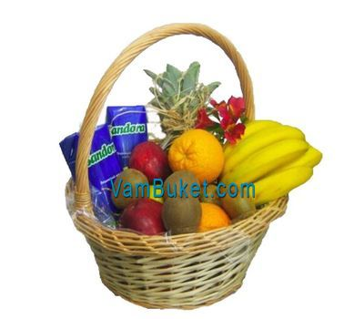 """Fruit basket for New Year''s holidays"" in the online flower shop vambuket.com"