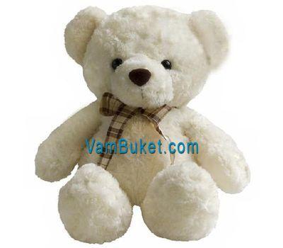 """Soft toy - White bear"" in the online flower shop vambuket.com"