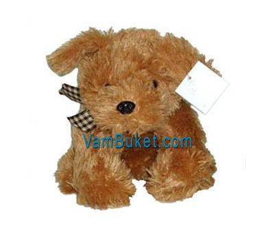 """Soft Toy - Doggie"" in the online flower shop vambuket.com"