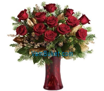"""New Year''s bouquet of roses"" in the online flower shop vambuket.com"