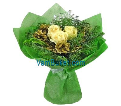 """New Year''s bouquet with cones"" in the online flower shop vambuket.com"