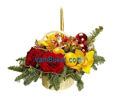 """""""Новогодняя композиция С Новым годом"""" в интернет-магазине цветов vambuket.com"""