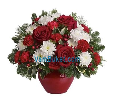 """Christmas composition"" in the online flower shop vambuket.com"