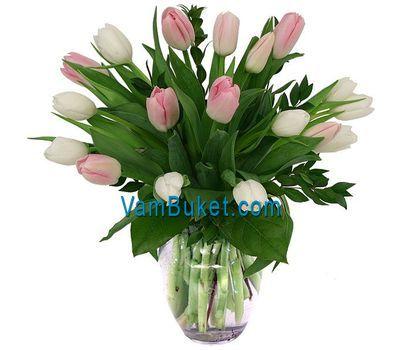 """""""Букет цветов из 19 тюльпанов"""" в интернет-магазине цветов vambuket.com"""