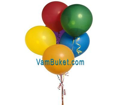 """5 balloons"" in the online flower shop vambuket.com"