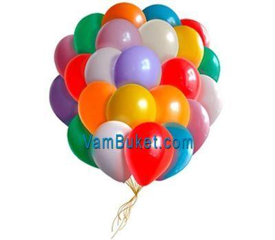 """""""25 разноцветных воздушных шариков"""" в интернет-магазине цветов vambuket.com"""