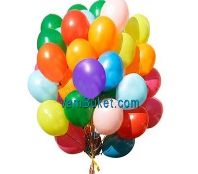 """50 multi-colored balloons"" in the online flower shop vambuket.com"